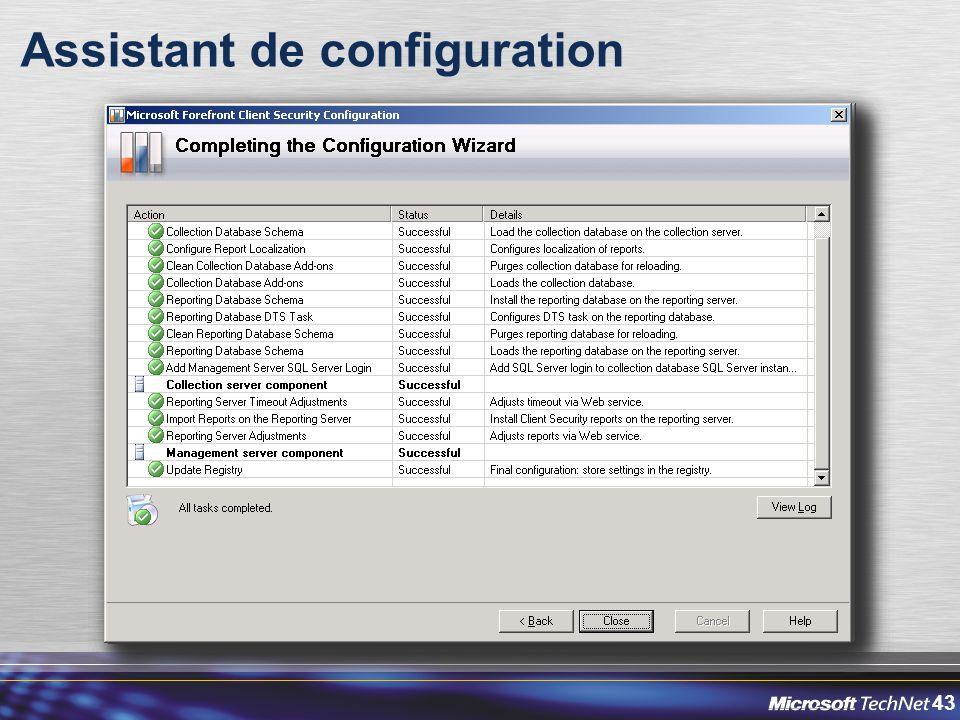 43 Assistant de configuration