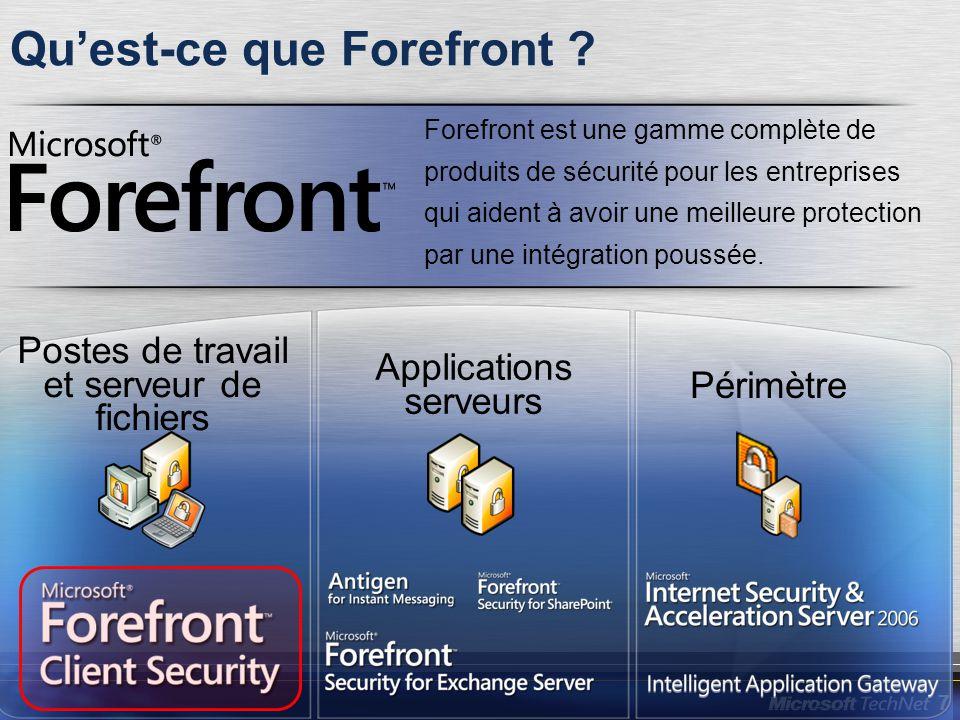 7 Forefront est une gamme complète de produits de sécurité pour les entreprises qui aident à avoir une meilleure protection par une intégration poussé