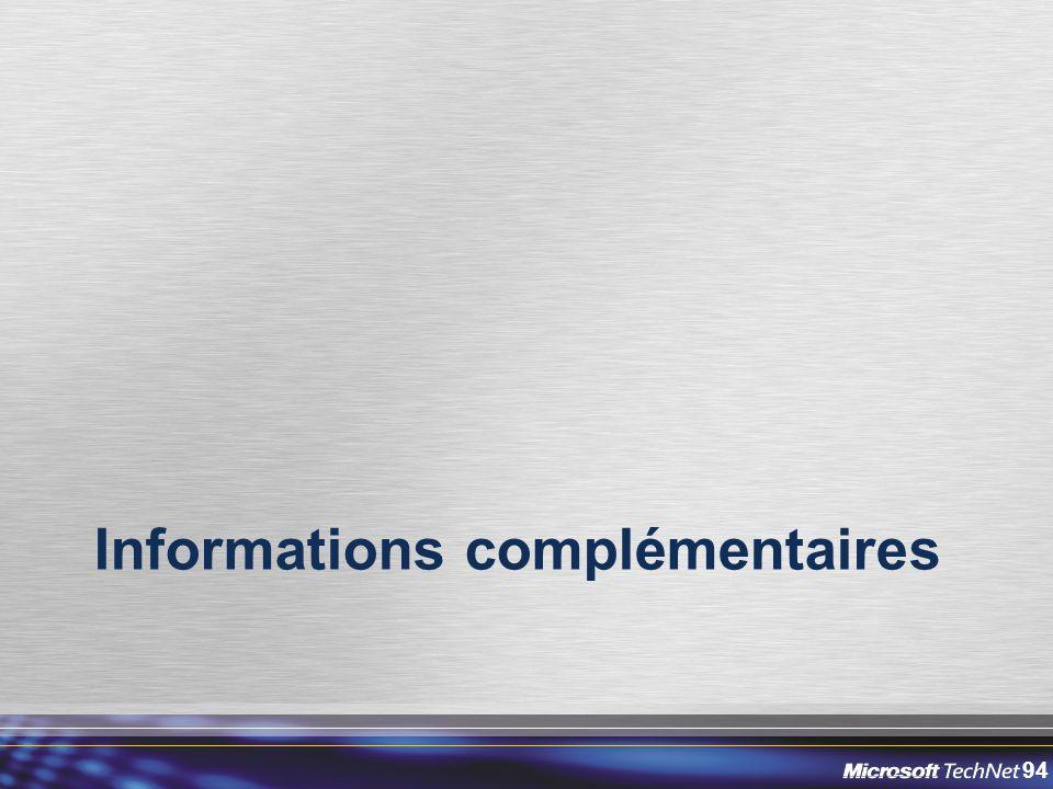 94 Informations complémentaires