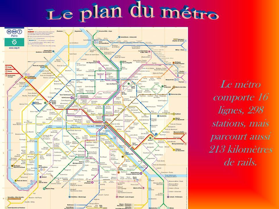 Le métro comporte 16 lignes, 298 stations, mais parcourt aussi 213 kilomètres de rails.