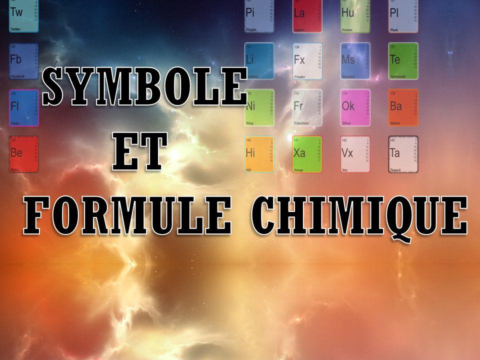 Symboles chimiques Aujourd'hui, on a adopté à travers le monde un ensemble de symboles pour désigner les élément (même si certains noms peuvent varier).