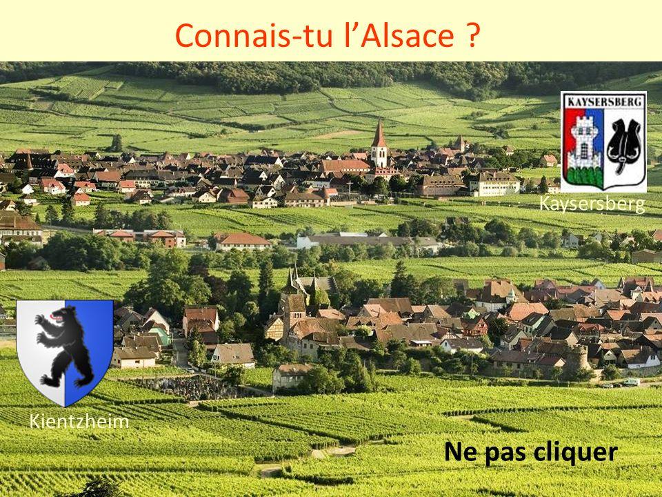 Connais-tu l'Alsace ? Kaysersberg Kientzheim Ne pas cliquer