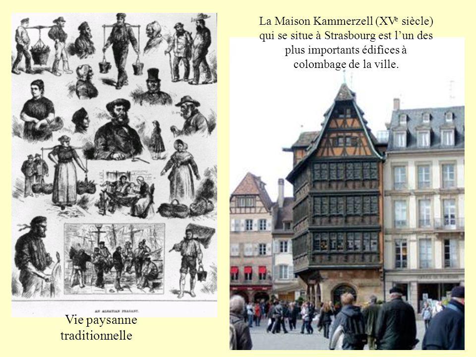 La Maison Kammerzell (XV e siècle) qui se situe à Strasbourg est l'un des plus importants édifices à colombage de la ville.