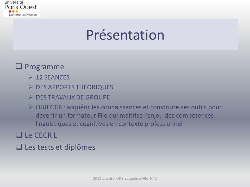 CECR L Le Cadre européen commun de référence pour les langues - Apprendre, Enseigner, Évaluer (CECR) est un document publié par le Conseil de l'Europe en 2001, qui définit des niveaux de maîtrise d une langue étrangère en fonction de savoir-faire dans différents domaines de compétence.