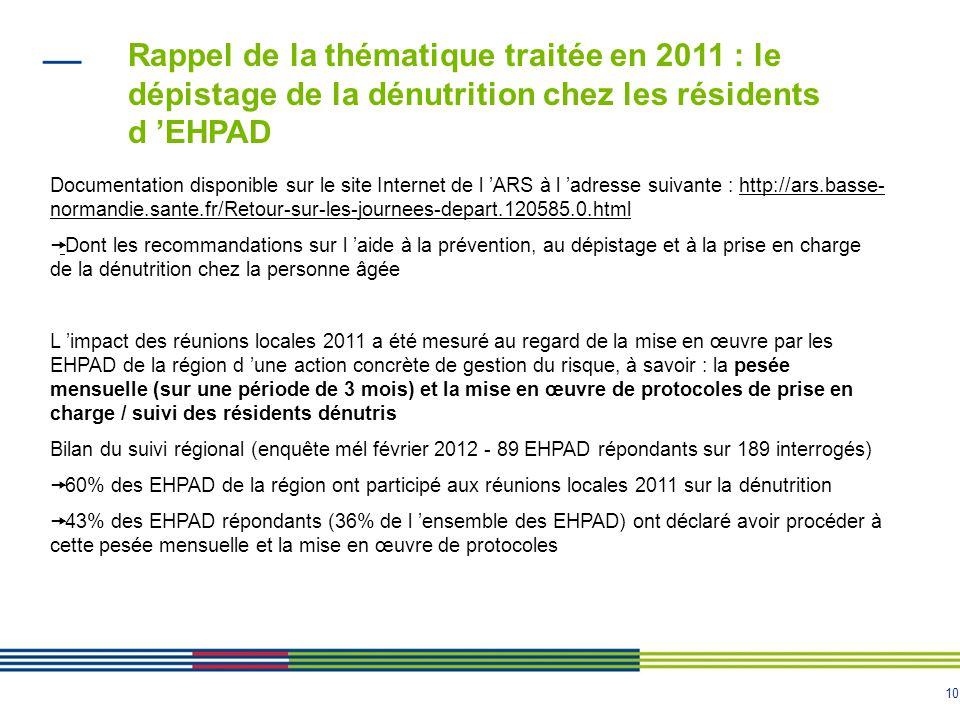 10 Documentation disponible sur le site Internet de l 'ARS à l 'adresse suivante : http://ars.basse- normandie.sante.fr/Retour-sur-les-journees-depart