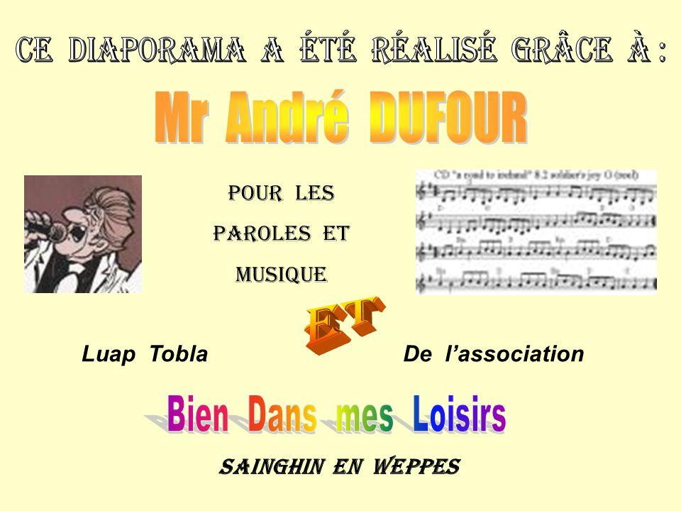 Pour les Paroles et musique Luap ToblaDe l'association Sainghin en weppes