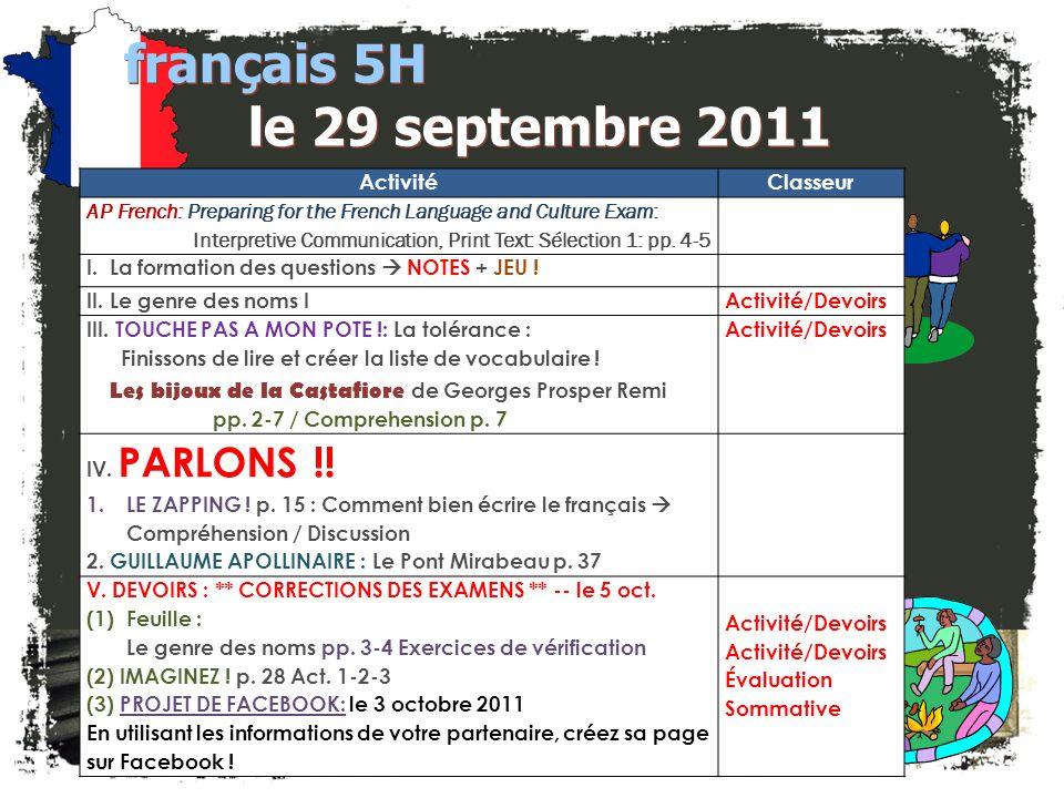 Formation des questions français 5H / 6AP III. Quel(le)(s) = ? 1._________ est ton adresse? 2._________ film te plaît? 3.__________ maîtres préfères-t