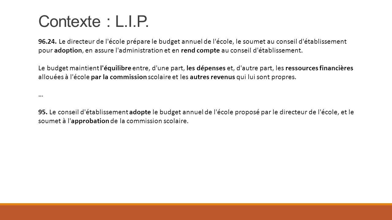 Allocations Budget Reddition (Document I pas fourni)