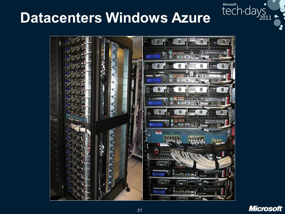 21 Datacenters Windows Azure