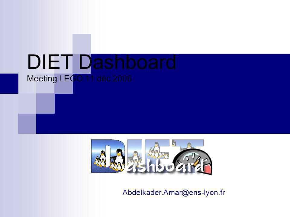 DIET Dashboard Meeting LEGO 11 déc 2006 Abdelkader.Amar@ens-lyon.fr