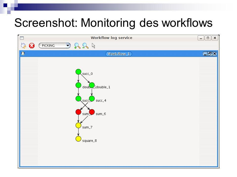 Screenshot: Monitoring des workflows