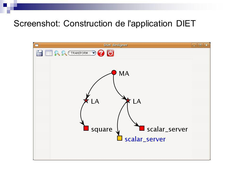 Screenshot: Construction de l application DIET