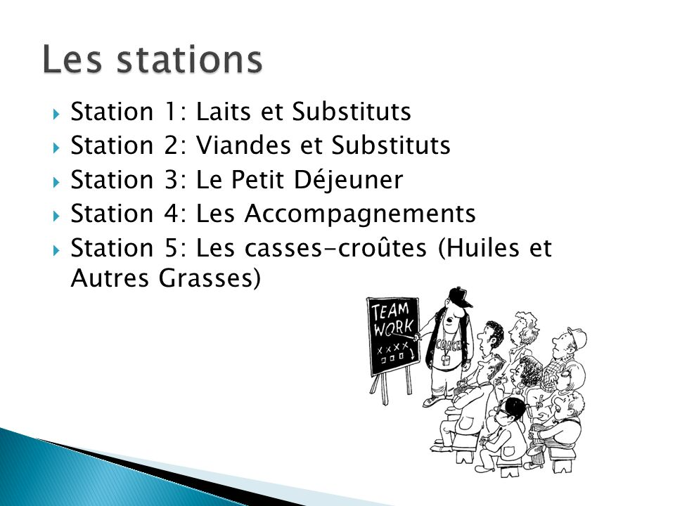  Vous avez 5 minutes a chaque station  On commencecommence