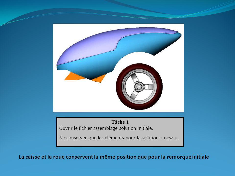 Tâche 1 Ouvrir le fichier assemblage solution initiale.