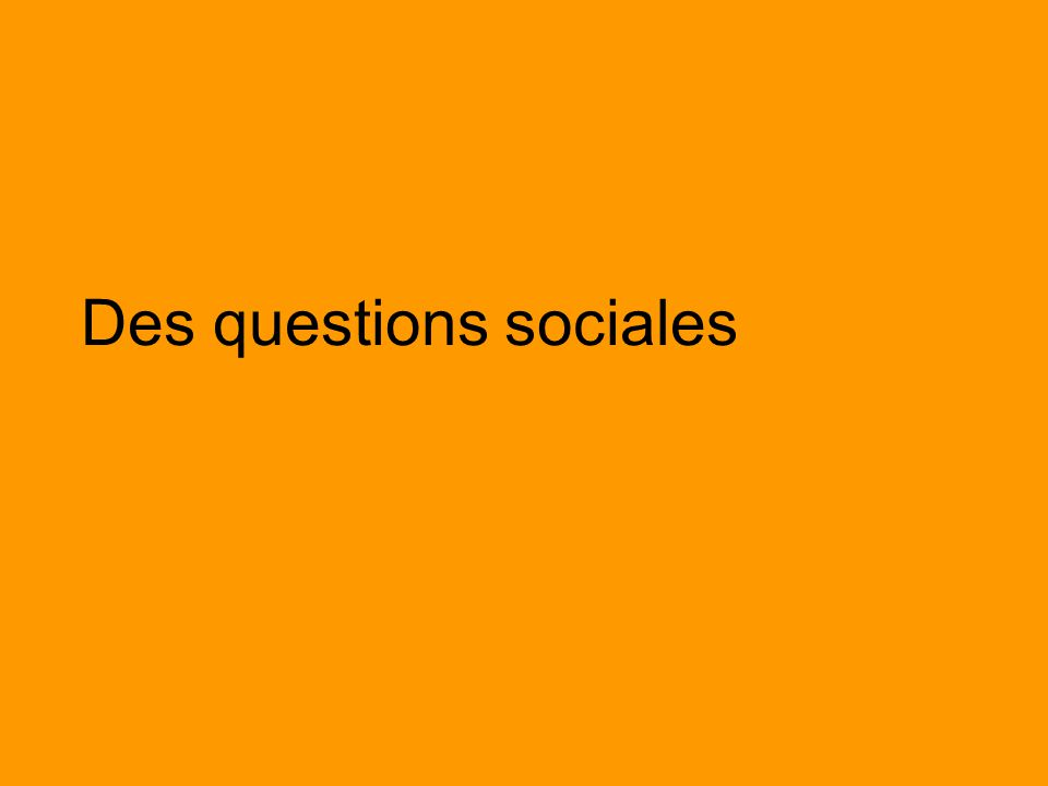Des questions sociales