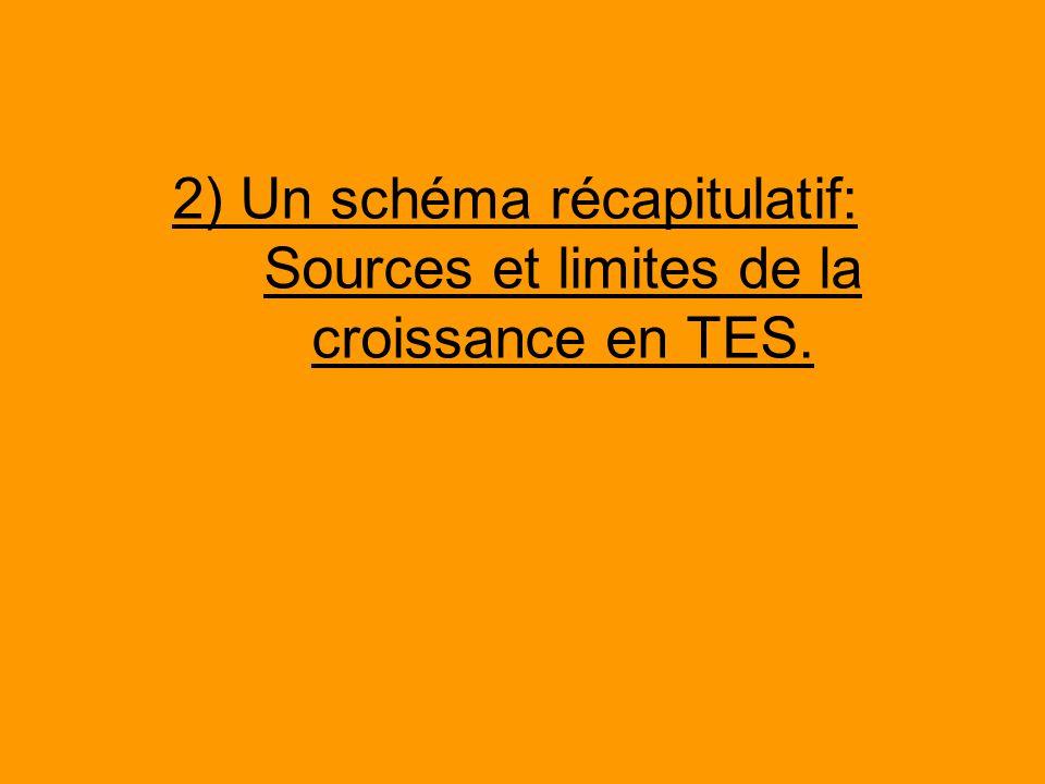 2) Un schéma récapitulatif: Sources et limites de la croissance en TES.