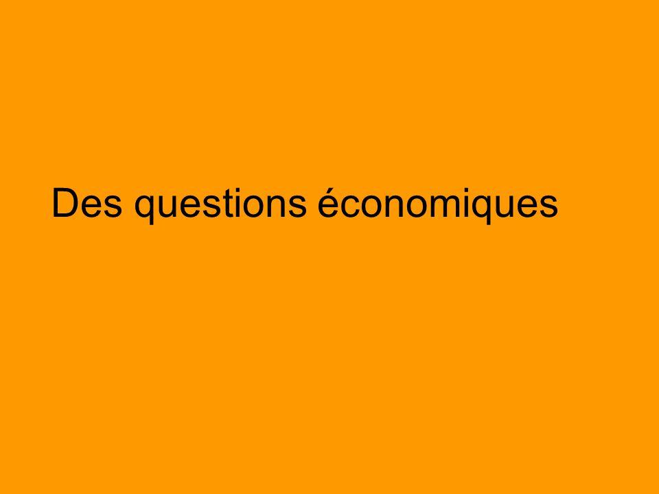 Des questions économiques