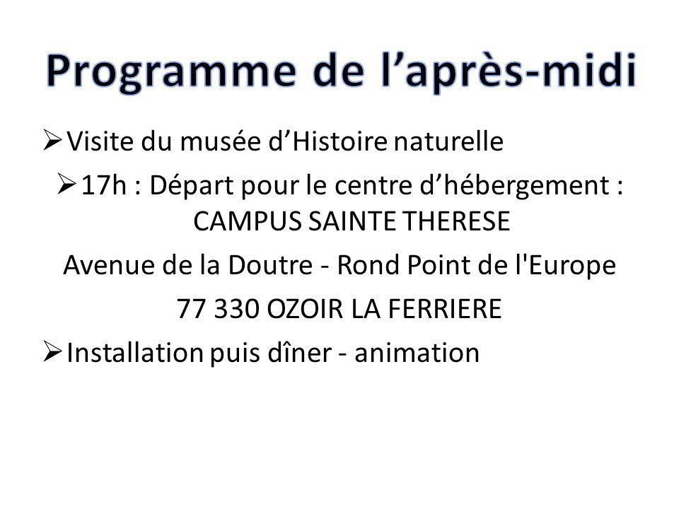 Au programme des autres jours…  Cité des Sciences  Montmartre  Louvre  Quartiers historiques de Paris : Ile de la Cité, Hôtel de Ville…  Balade en bateau-mouche  Versailles