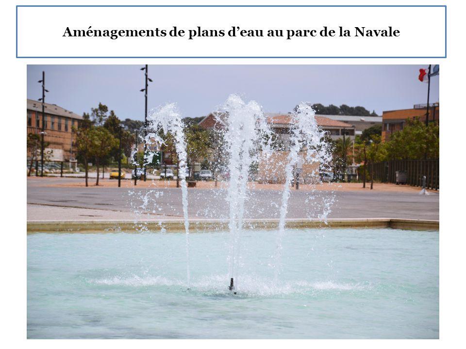 Aménagements de plans d'eau au parc de la Navale