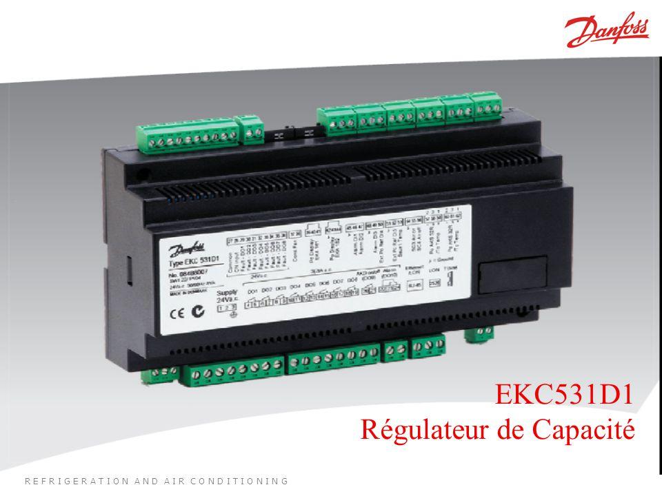 R E F R I G E R A T I O N A N D A I R C O N D I T I O N I N G EKC531D1 Régulateur de Capacité