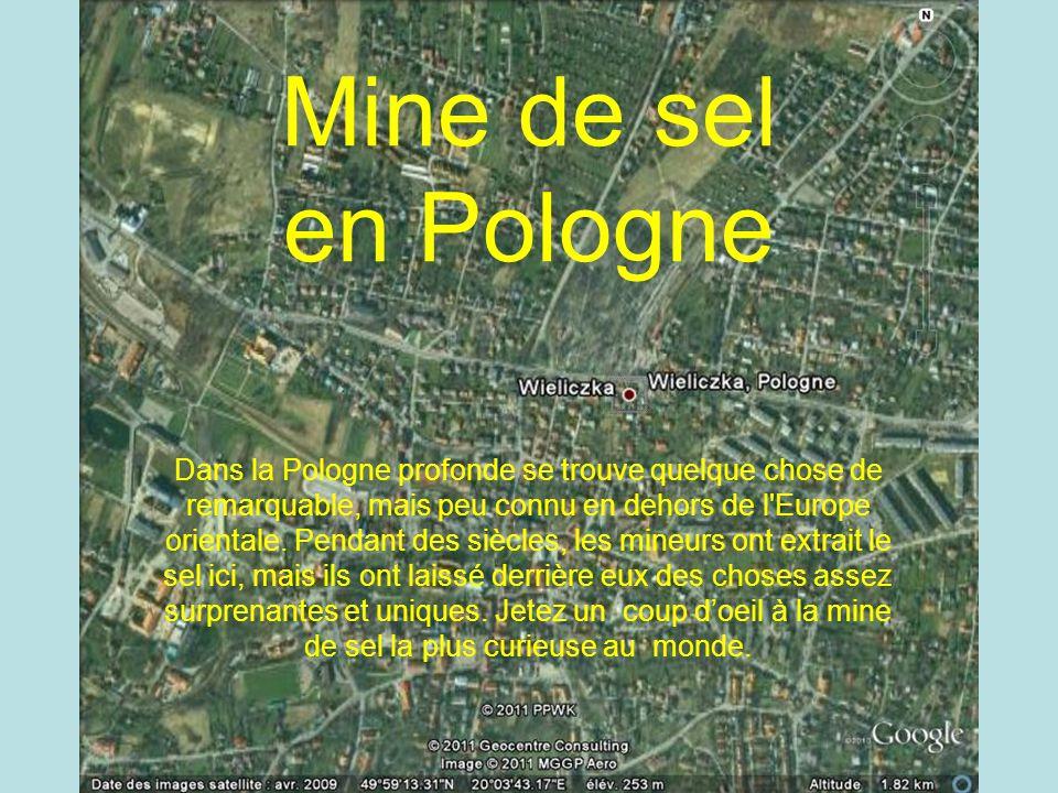 Mine de sel Polonaise Mine de sel en Pologne Dans la Pologne profonde se trouve quelque chose de remarquable, mais peu connu en dehors de l Europe orientale.