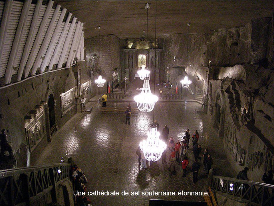 Une cathédrale de sel souterraine étonnante.