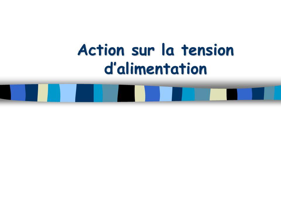 Action sur U Sourced'énergieSourced'énergie I Amp C N.m I Amp C N.m  (rd/sec) I a k.