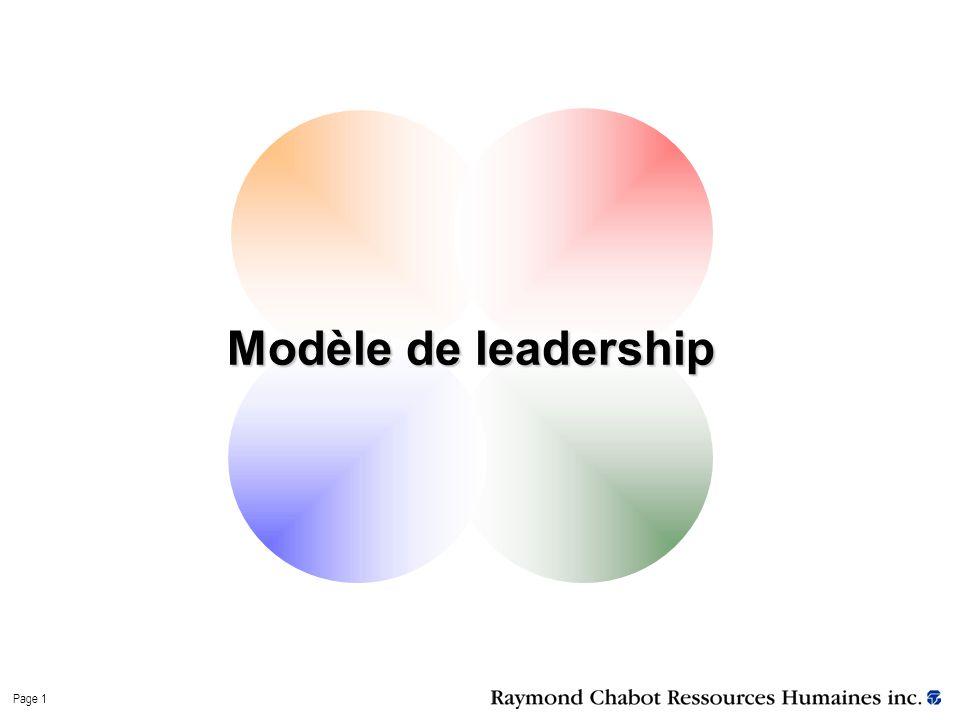 Page 1 Modèle de leadership