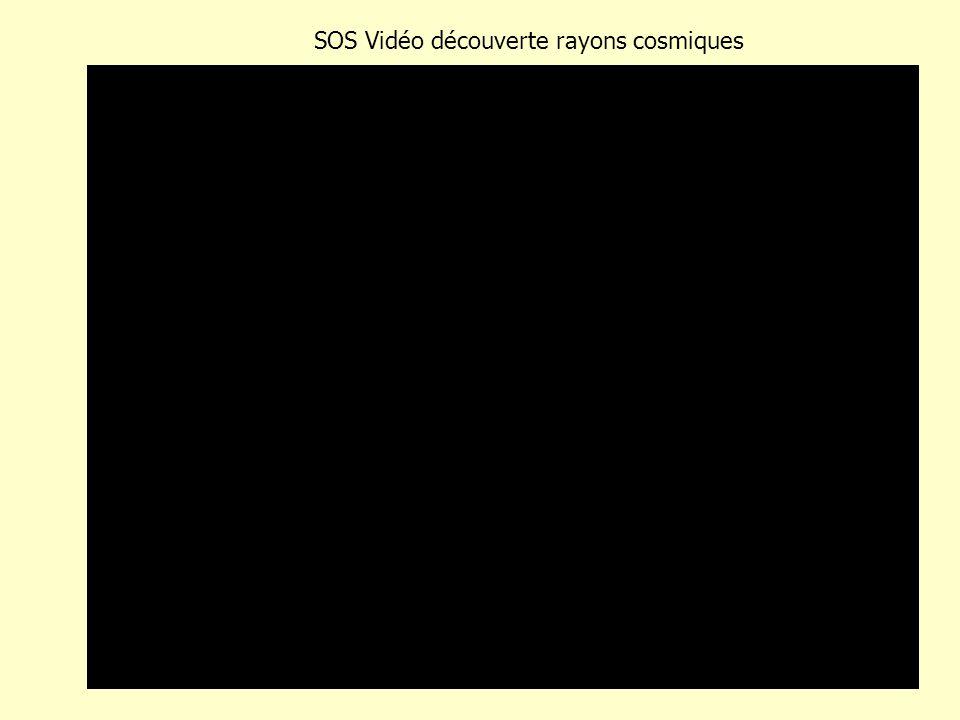 SOS Vidéo découverte rayons cosmiques