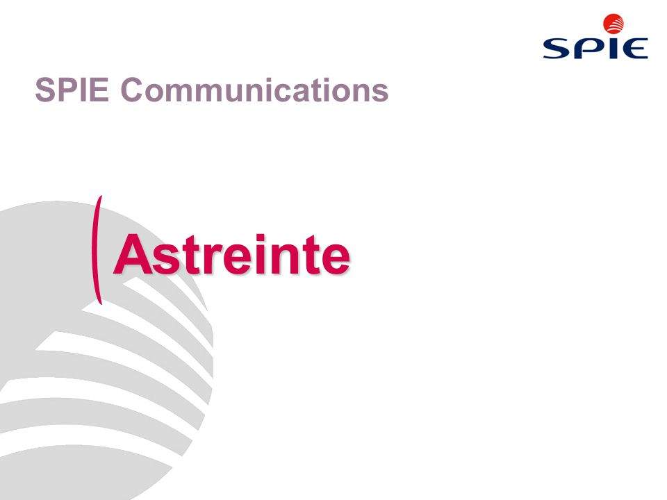 Astreinte SPIE Communications