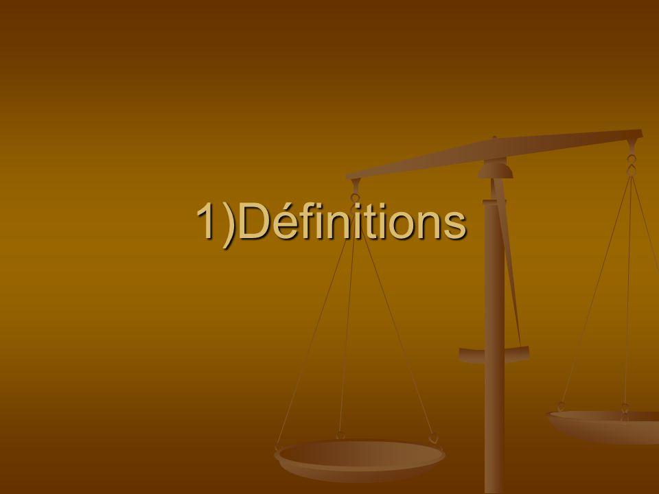1)Définitions