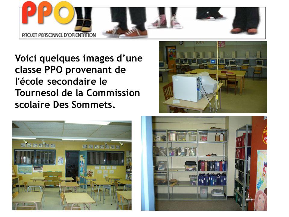 Voici quelques images d'une classe PPO provenant de l école secondaire le Tournesol de la Commission scolaire Des Sommets.
