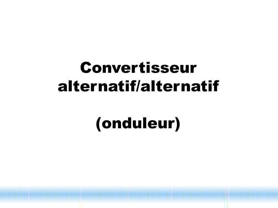 Convertisseur alternatif/alternatif (onduleur)