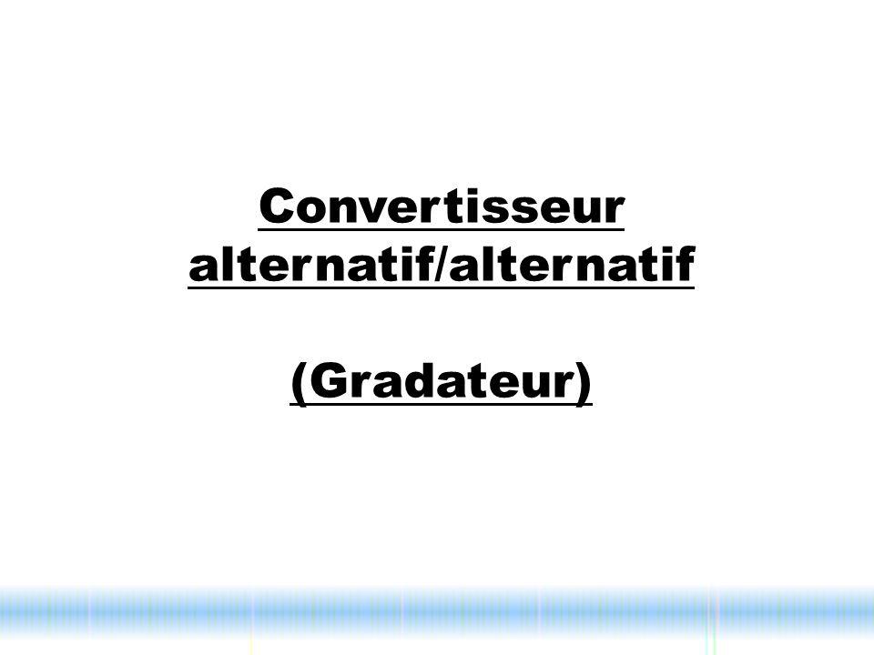 Convertisseur alternatif/alternatif (Gradateur)