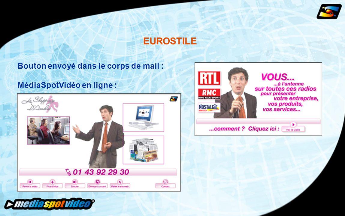 EUROSTILE Bouton envoyé dans le corps de mail : MédiaSpotVidéo en ligne :