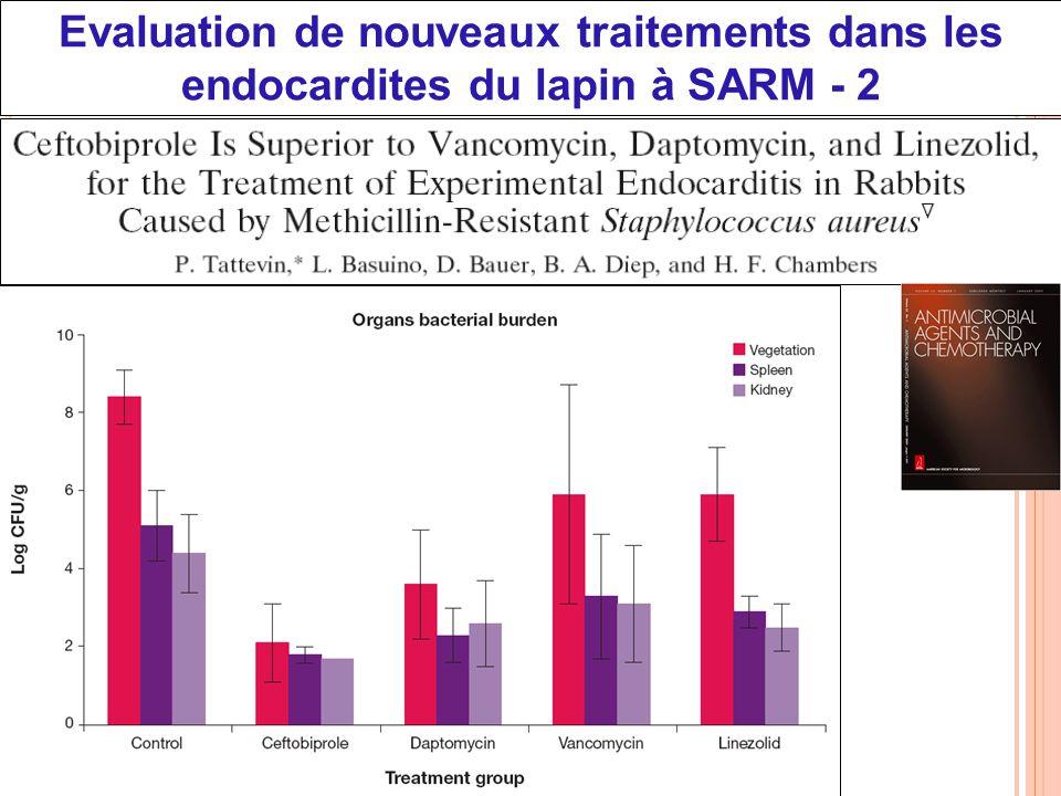 CNU 45-03, 15/04/2010 Evaluation de nouveaux traitements dans les endocardites du lapin à SARM - 2