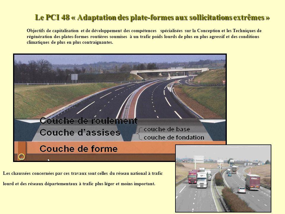 Le PCI 48 « Adaptation des plate-formes aux sollicitations extrêmes » Objectifs de capitalisation et de développement des compétences spécialisées sur