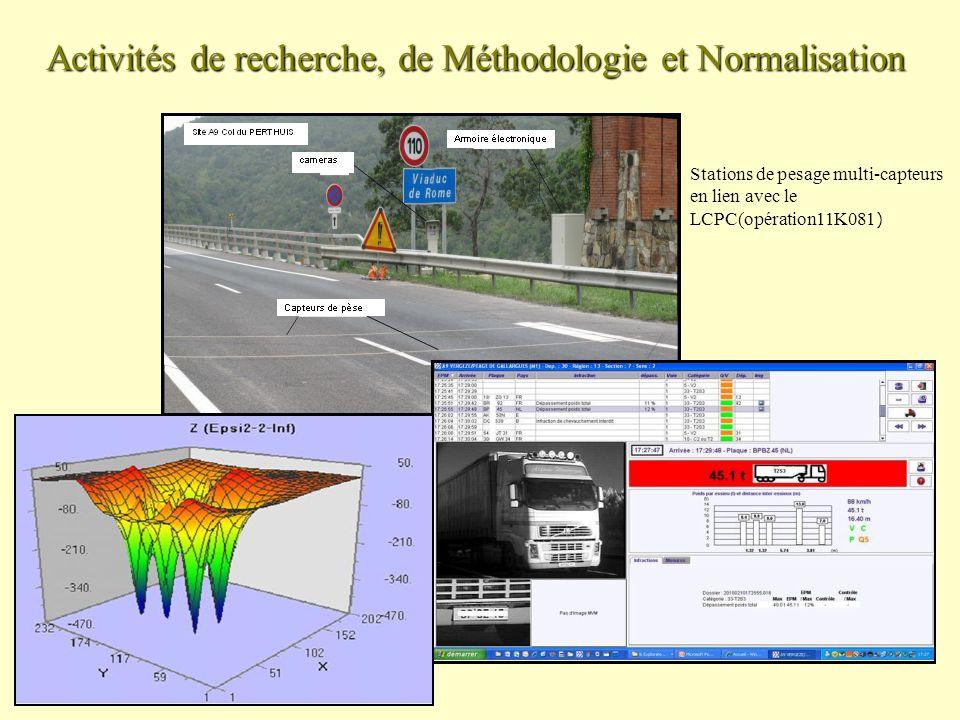 Activités de recherche, de Méthodologie et Normalisation Stations de pesage multi-capteurs en lien avec le LCPC(opération11K081 )