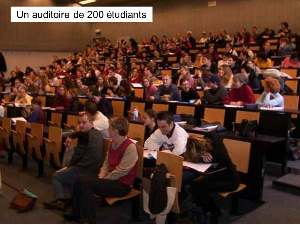 Leclercq, Micro PARMs MFPA, STE ULG, 2002 13 Un auditoire de 200 étudiants