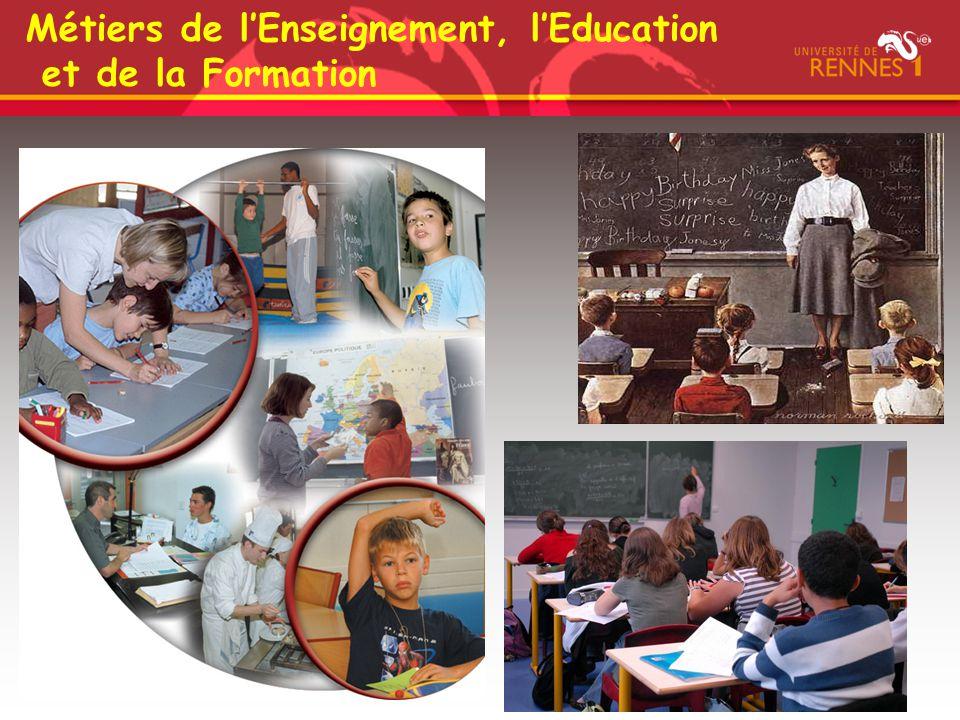 Métiers de l'Enseignement, l'Education et de la Formation