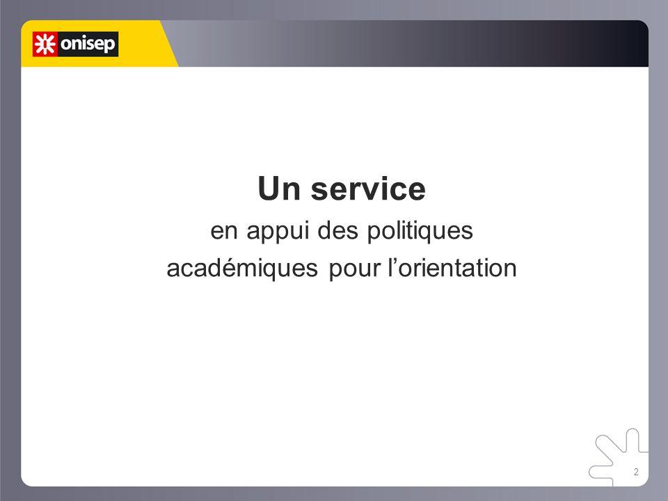 2 Un service en appui des politiques académiques pour l'orientation
