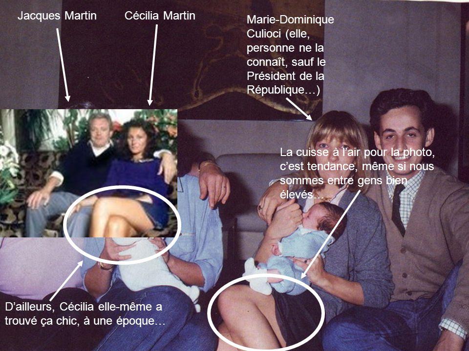Jacques MartinCécilia Martin Marie-Dominique Culioci (elle, personne ne la connaît, sauf le Président de la République…) La cuisse à l'air pour la pho