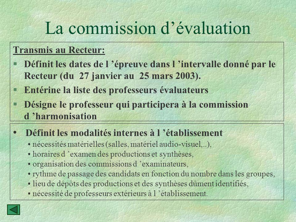 Préparation de l 'évaluation des TPE §Constituer, réunir et définir les tâches de la commission d 'évaluation de l 'établissement.