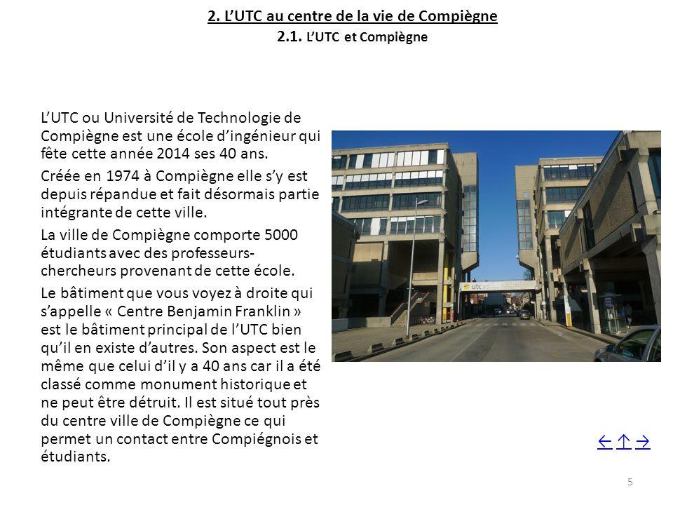 2.L'UTC au centre de la vie de Compiègne 2.1.