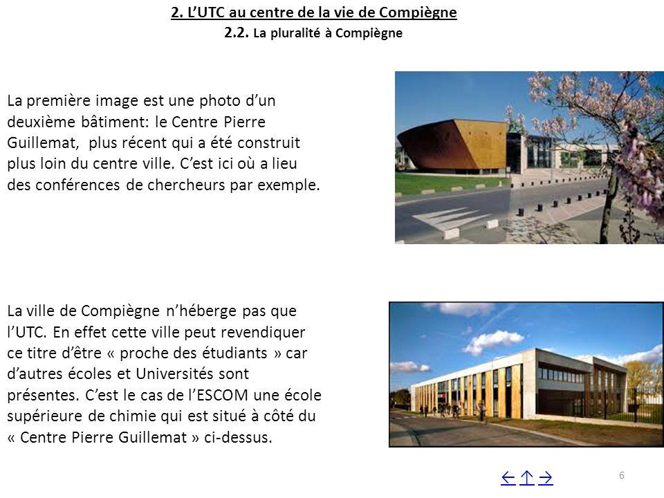2.L'UTC au centre de la vie de Compiègne 2.2.