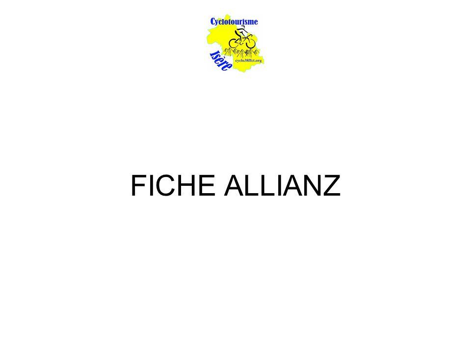 FICHE ALLIANZ