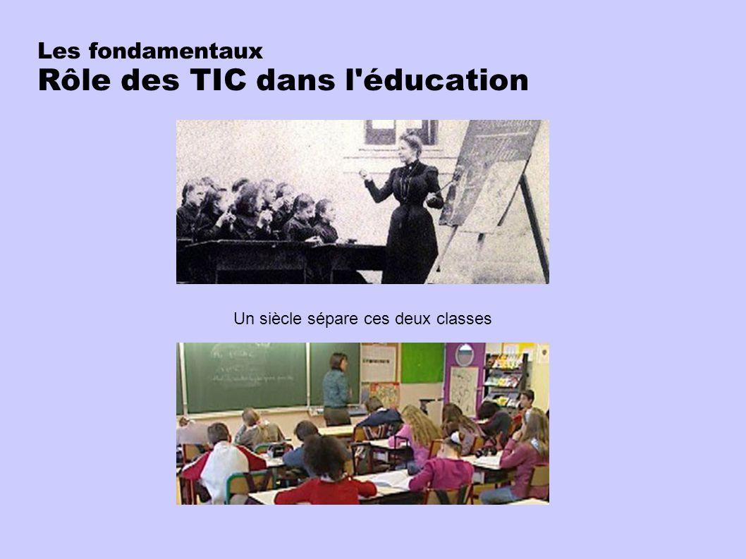 Les fondamentaux Rôle des TIC dans l éducation Un siècle sépare ces deux classes