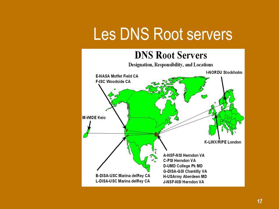 17 Les DNS Root servers