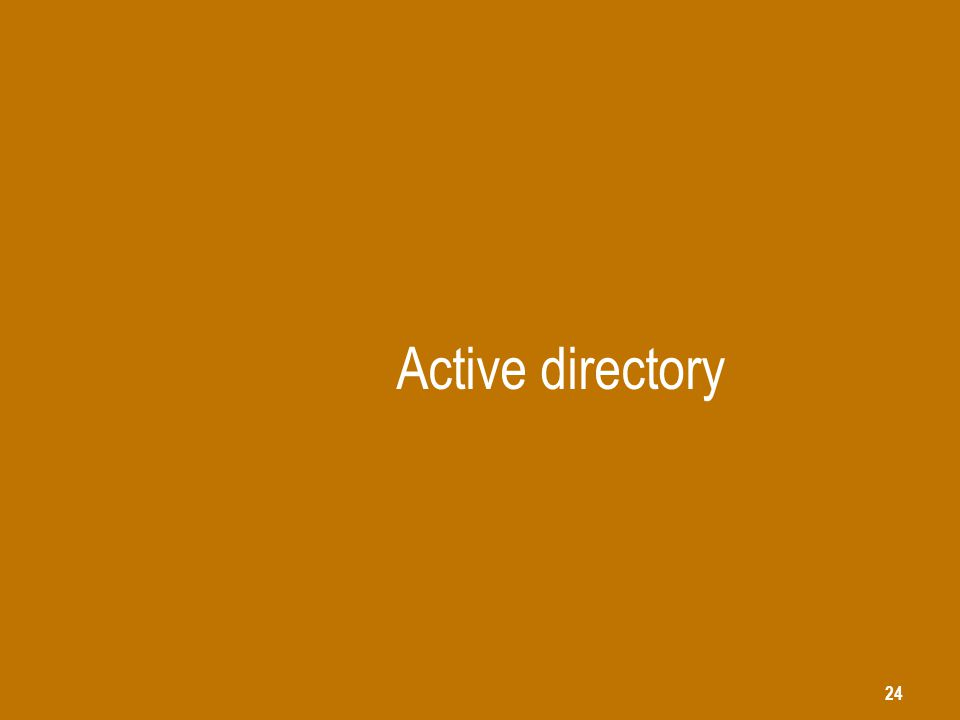 24 Active directory