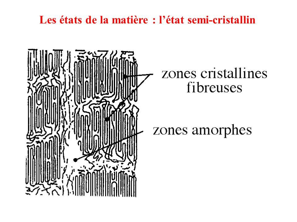 Les états de la matière : l'état semi-cristallin
